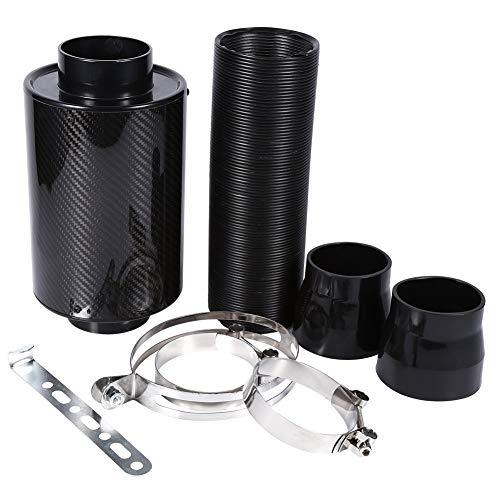 Luftfilter Auto, Auto Kohlefaser Kaltluftfilter Einspeisung, Ansaug-Ansaugrohr Schlauch Kit,3