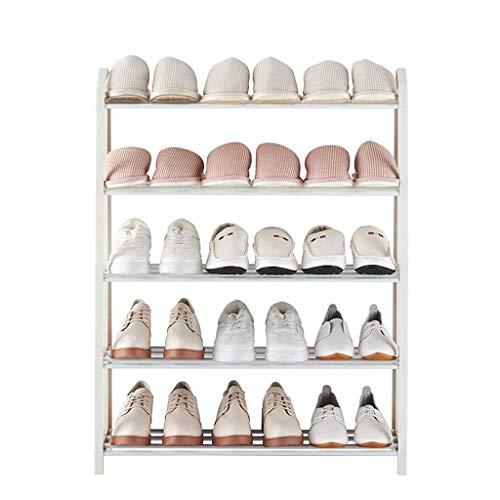 Diaod Dormitorio Zapatero, Multifuncional Metal Rack for el Montaje de Zapatillas de casa de Muebles de Tela Zapatos
