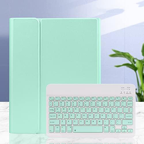 LGQ Funda con Teclado para iPad Mini, Portalápices Integrado Y Teclado Bluetooth Desmontable, La Funda De Piel Tipo Folio Es Adecuada para Apple iPad Mini 5 / Mini 4 / Mini 3 / Mini 2 y 1,Light Blue