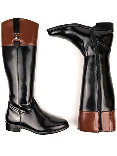 Will's Vegan Shoes - Botas de equitación para mujer, color negro