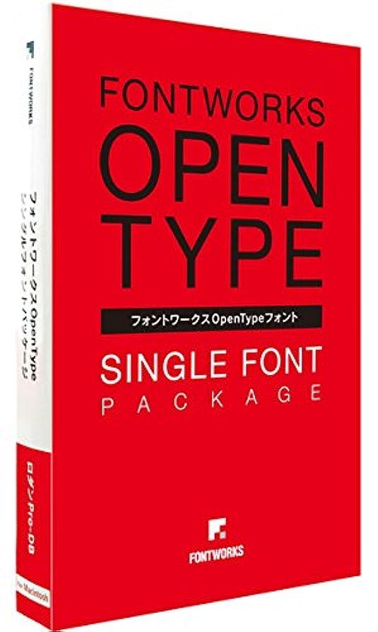 パケットいいねペルーフォントワークス フォントワークスOpenTypeフォント ロダンPro-B for Mac