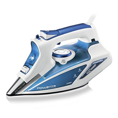 Rowenta DW 9220 Plancha, Vapor Continuo 50g/min, Sistema autolimpieza, 2750 W, Azul y blanco