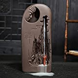 LEAFIS Ceramic Buddha Incense Burner Waterfall Chinese Backflow Incense Burner Holder with 10pcs Incense Cones for Home Office Decor (Monk Buddha)