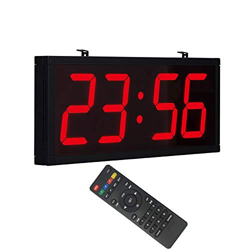 Clocks Reloj de Pared LED Reloj Digital GPS Operación de Control Remoto Brillo Ajustable Reloj de Pared Rectangular, Adecuado para Dormitorio/Sala de Estar/Cocina