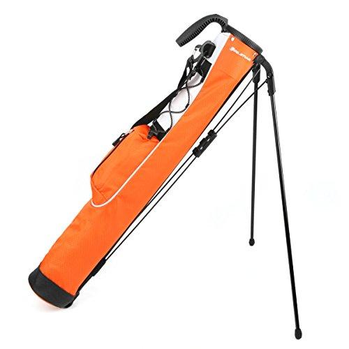Orlimar Pitch & Putt Golf-Tragetasche, leicht, mit Ständer, Orange, regulär, K99546