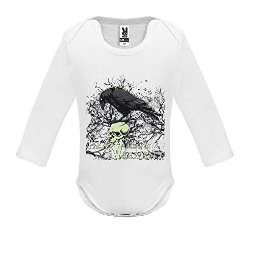 Body bébé - Manche Longue - Heaven s Basement - Bébé Garçon - Blanc - 3MOIS