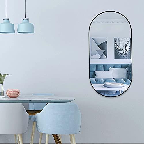 Muzilife Espejo ovalado grande de 100 x 50 cm con