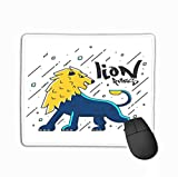 Mouse Pad Flat Designed Lion Design Typography Poster Print
