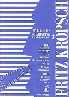 ETUEDEN 1 - arrangiert für Klarinette [Noten / Sheetmusic] Komponist: KROEPSCH FRITZ