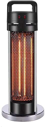 Outdoor Patio Heater,1500W Graphite Tower Heater with Handle,Electric Infrared Heater Standing Column Heater Ip55 Waterproof Under Desk Heater-Large with Handle