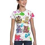 Maichenxuan Five Nights at Freddy's Kids - Camiseta de manga corta para niñas y adolescentes con estampado en 3D