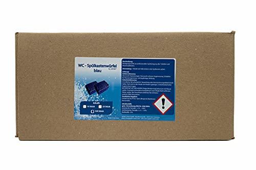 100 WC - Wasserkastenwürfel Spülkasten-Würfel Reinigungs-Tabs blue 50g