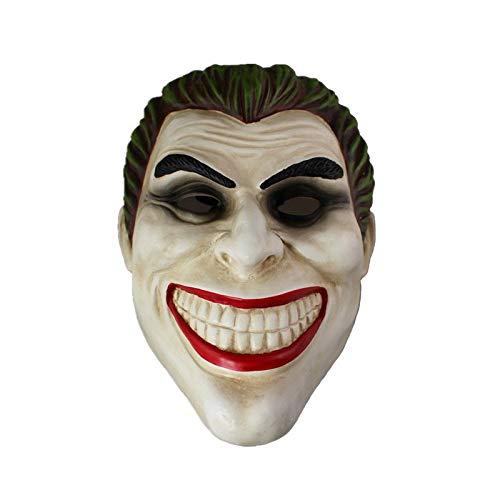 PIAOL Hochwertiges Harz Clown Batman Dark Knight Joker Erwachsenenhandbuch Requisite Filmcharaktere Dress Up Kostüm