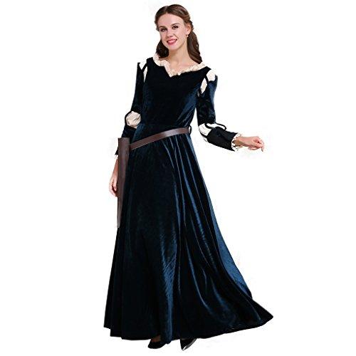 Fortunehouse DunBroch Disfraz de princesa Merida Cosplay escocés disfraz adulto para Halloween