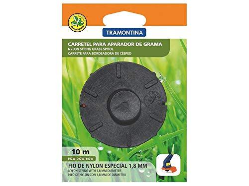 Carretel 2 fios de nylon 1,8 mm, 10 m de comprimento, para aparador de grama - Cor Preto - Tramontina