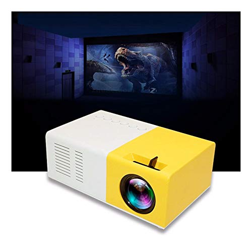 huichang Mini Beamer, 2500 Lumen Heimkino Beamer, Support 1080P Full HD mit 50000 Stunden LED, kompatibel mit TV-Boxen, PCs, Laptops, Tablets, Blu-ray-Playern, SD-Karten, USB-Sticks und Smartphones