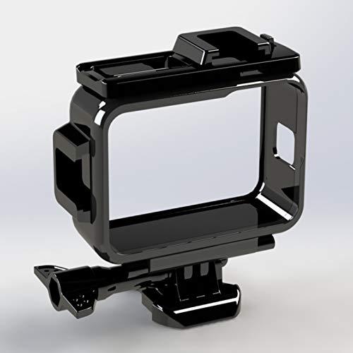 Schutzhülle für GoPro Hero 9 Rahmengehäuse mit Zubehörschuh-Halterung, Schutzschale, Käfighalterung, Zubehör für Go Pro Hero 9 Action-Kameras (schwarz)