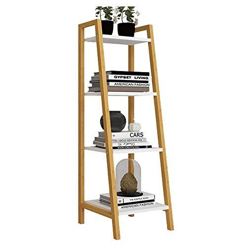 HYY-YY Home - Estantería de escalera de 4 niveles con escalera inclinada