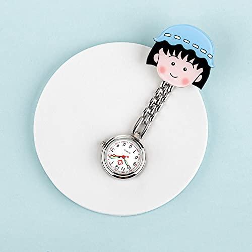 LLRR Mujer Niña Reloj Médico,Hangar portátil Digital para Estudiantes, Cofre médico impermeable-09,Reloj de Enfermera con Broche