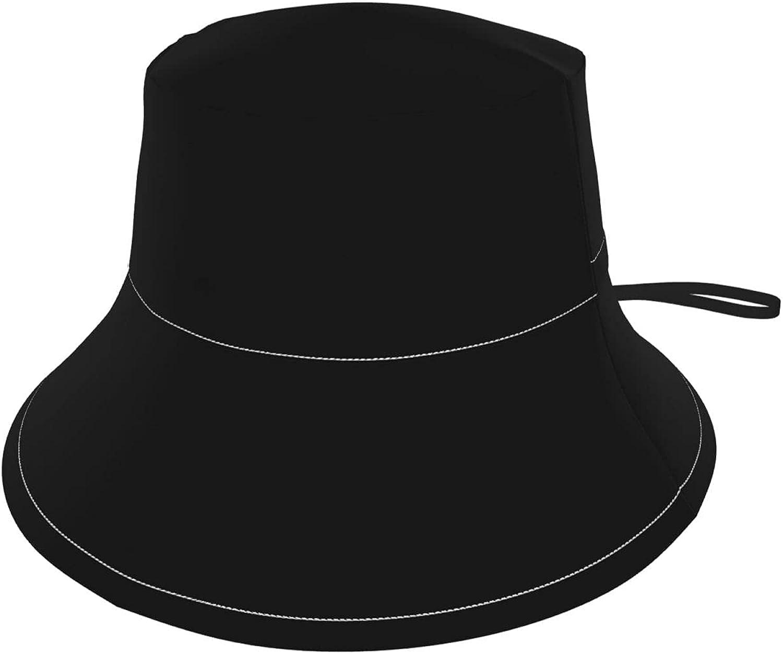 Bold Modern Black White Tropical Palm Leaf Kids Bucket Hat Sun Protection Hat for Boys Girls Summer Hat