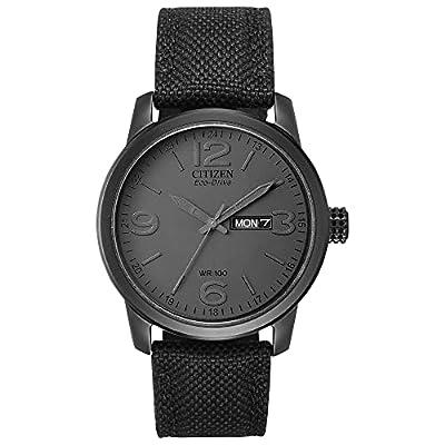 a225386e7a23 Citizen Men s Eco-Drive Black Ion-Plated Watch