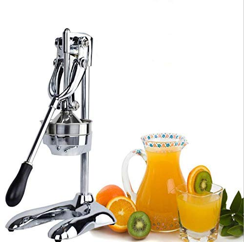Exprimidor de frutas manual, exprimidor de cítricos de acero inoxidable, exprimidor de cítricos, frutas blandas con piel como naranja, granada, toronja, extractor de jugo para uso comercial y doméstic
