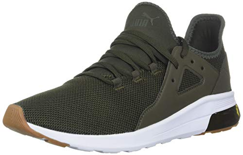 PUMA Men's Electron Street Sneaker, Forest Night-Forest Night White, 10 M US