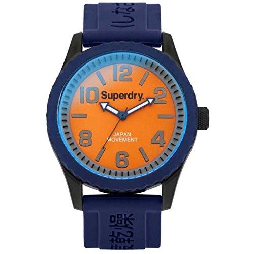 Superdry SYG146UO Tokyo Uhr Herrenuhr Kautschuk Kunststoff 30m Analog blau