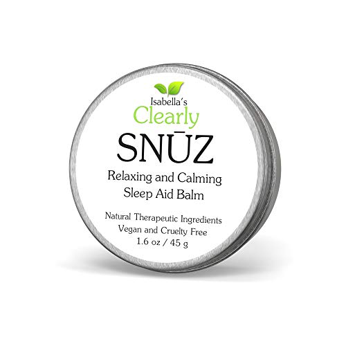 Isabella's Clearly SNŪZ Sleep Aid Balm, 100% Effective Natural Sleeping Remedy for Insomnia Relief, Non Habit Forming, No Supplement or Pill. Vegan. USA