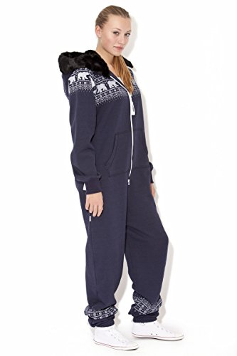 Jumpin Erwachsene Jumpsuit Original, Norwegian Bear Navy, Dunkelblau - 3