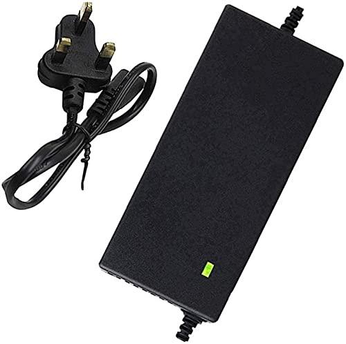 SKYWPOJU Cargador de batería para Scooter eléctrico de Iones de Litio de 42 V y 3 A, Cargador de batería de Litio para Bicicleta eléctrica de 36 V, protección contra la Temperatura, Carga rápida