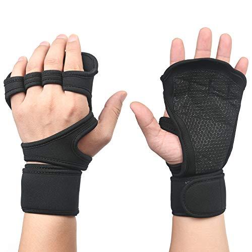 flintronic Fitness Handschuhe, Trainingshandschuhe, Gewichtheben Handschuhe, Trainingshandschuhe mit armbändern für Damen und Herren, Sporthandschuhe für Fitness, Bodybuilding, Kraftsport - M