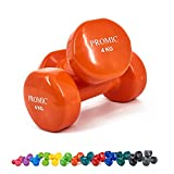 PROMIC Solid Hand Gewichte Deluxe Vinyl Hanteln mit einem rutschfesten Griff für Fitness Übung,...