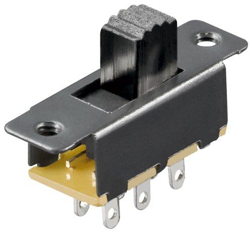 MANAX Schiebeschalter (20 Stück) 6 Pins 2xUM Lochabstände 19 mm