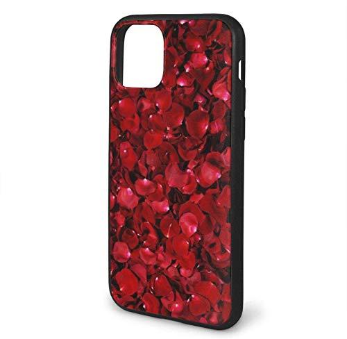 Bernice Winifred Estuche Red Roses para iPhone 11 Pro / 11/11 Pro MAX, Estuche para teléfono de Gel de Goma TPU ultradelgado y Brillante Compatible con Iphone11 Pro / 11/11 Pro MAX