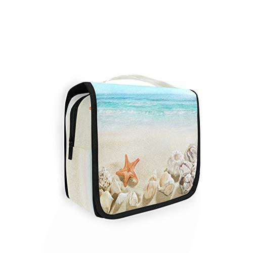 RELEESSS Ocean Sea Beach - Neceser de viaje para maquillaje y cosméticos