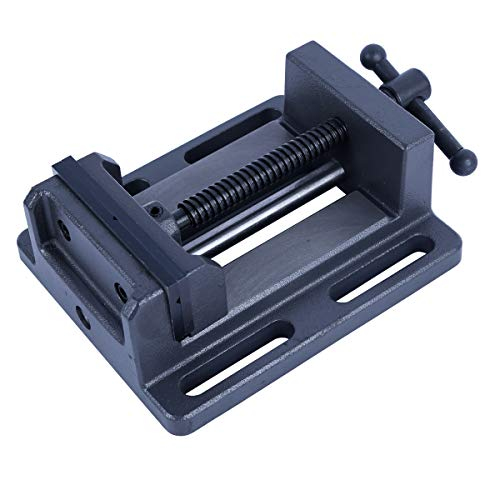 Tornillo de banco de taladro de prensa profesional de alta calidad con barra de guía 150 mm, 6 pulgadas 14 kg (aprox.)