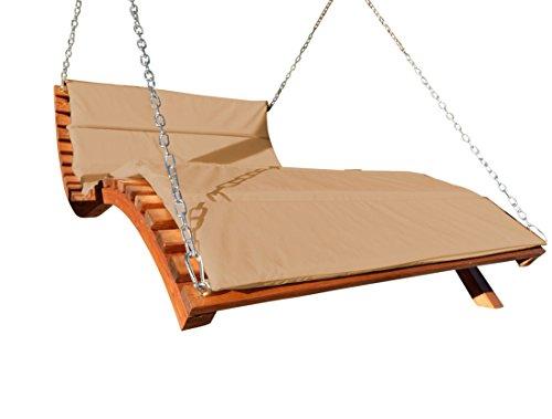 Design accrochant soleil Double transat Hollywood à double pont en bois de mélèze modèle: 'ARUBA LOUNGER' (sans le support) de l'AS-S, Farbe:Braun