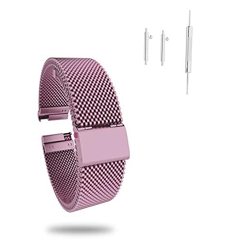 Correa de Reloj, Correa de Acero Inoxidable Repuesto Correas Reloj con Reemplazo de Reloj de 20mm para Mujer y Hombres