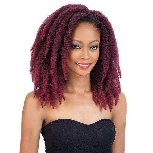Freetress Equal Synthetic Hair Braids Double Strand Style (Havana Twist) Cuban Twist Braid 12' (6-Pack, 1B)