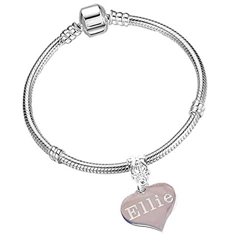 Personalised and Engraved Starter Charm Bracelet with Gift Box Girls and Women's Jewellery