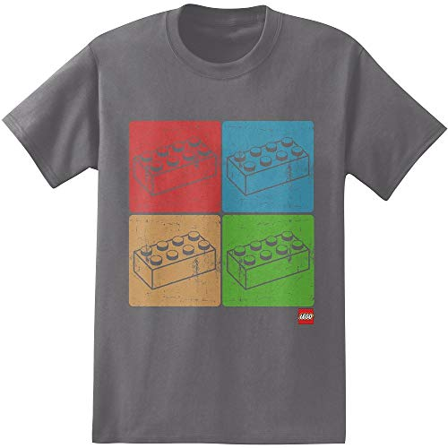 Lego Four Blocks Adult T Shirt Camisetas y Tops(X-Large)