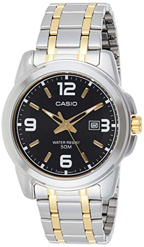 CASIO MTP-1314SG-1AV Men's Enticer Gents (Black/Gold)...