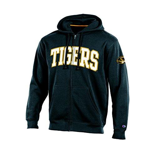 NCAA Herren Fleece-Jacke Champion Flea-Flicker 2 Full Zip Hooded Fleece, Herren, NCAA Champion Men's Flea-Flicker 2 Full Zip Hooded Fleece, schwarz, XX-Large