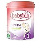 Babybio - Lait Infantile - Optima 1er Âge - 800g - de 0 à 6 Mois - BIO - Fabriqué en France - Sans Huile de Palme