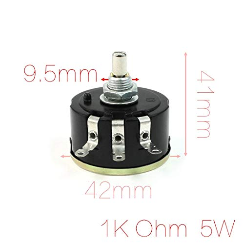 Sala-Deco - Electrical 1K Ohm 3 Terminals Variable Resistor Potentiometer Adjust Timer Speed Temperature In All Kinds Of Equipment