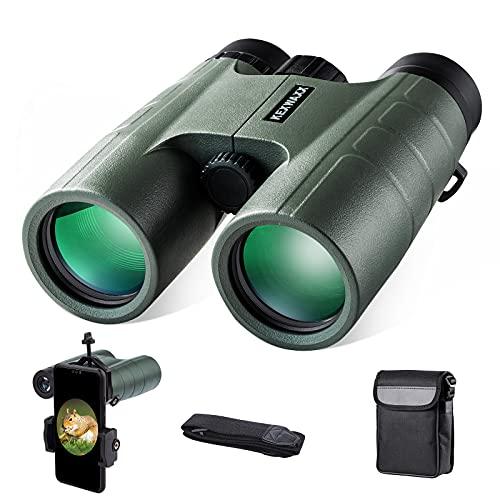 Binocolo Professionale,10 x 42 Binocolo Compatto con FMC Roof BAK-4 prisma con adattatore per smartphone per il birdwatching,la caccia,i concerti,le competizioni sportive