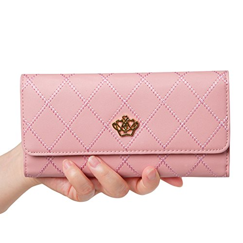 Anlyzer Womens Leather Clutch Crown Wallet Long Trifold Organizer Wallet...