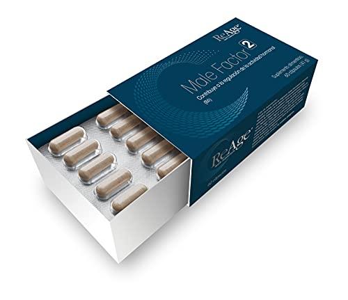 ReAge® Male Factor 2 para los hombres| Suplemento para reducir la descomposición de testosterona | ALTO ZINC MAGNESIO SERENOA| Reduce el cansancio y la fatiga | Crecimiento muscular | 60 cápsulas