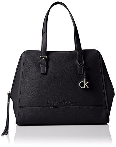 Calvin Klein Damen Melissa Satchel Taschen, schwarz, Einheitsgröße